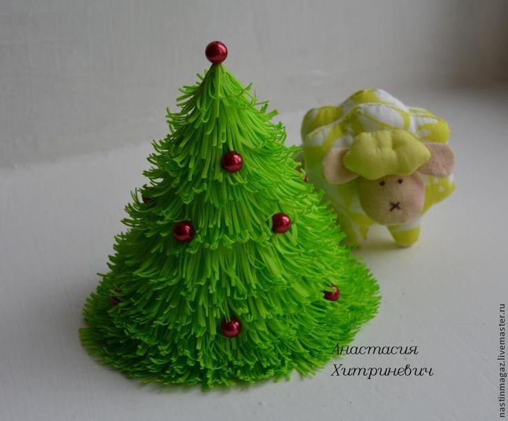 Мастер-класс по созданию новогодней елочки из фоамирана - Ярмарка Мастеров - ручная работа, handmade
