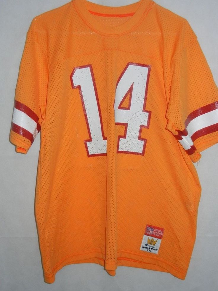 Vinny Testaverde Tampa Bay Buccaneers XXL jersey Sandknit creamsicle Macgregor #MacgregorSandknit #TampaBayBuccaneers