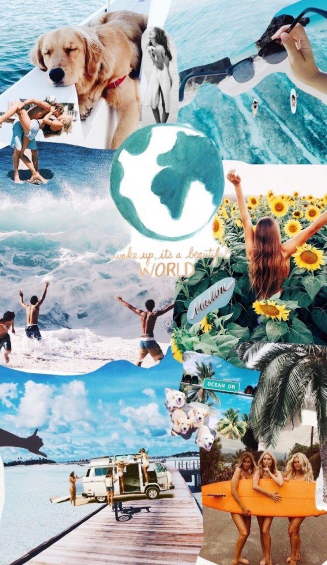 Vsco Carolineebateman Collage Background Aesthetic Wallpapers Wallpaper Iphone Cute