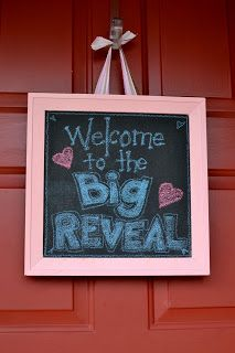Big Reveal door sign