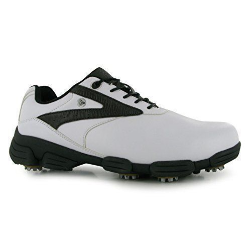 Mens Golf Shoes Idea | Dunlop Biomimetic 100 Golf Shoes Mens WhiteBrown Golfing Footwear Shoe UK12 EU46 -- Read more  at the image link.(It is Amazon affiliate link) #baby #golfshoes