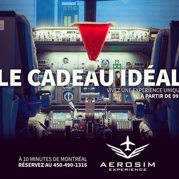 #Noel approche! Le compte à rebours est lancé! Offrez les commandes d'un #avion de ligne! #aerosimexperience #Boeing #laval #Montreal #airliner #flightsimulator