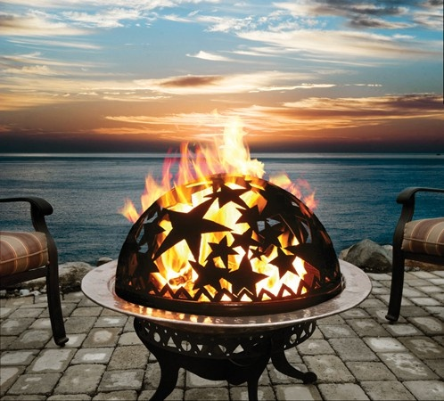 Great fire pit and a wonderful location