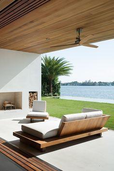 Outdoor Living, outdoor decor ideas, summer decor, spring décor, summer inspirations, modern gardens, gardens, outdoors. For more inspiration: www.bocadolobo.com/en/inspiration-and-ideas/