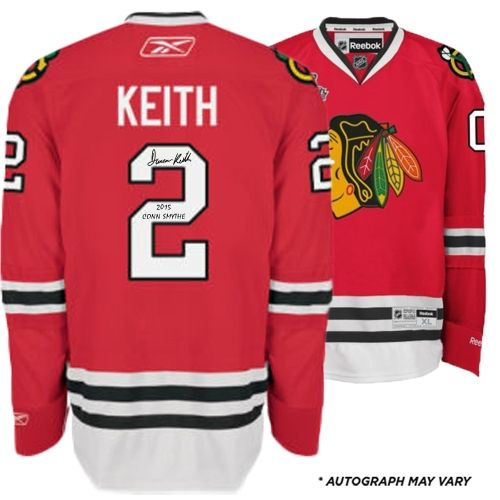Fanatics Authentic Duncan Keith Chicago Blackhawks 2015 Stanley Cup Champions Autographed Red Reebok Premier Jersey with 2015 Stanley Cup Finals Patch and 2015 Conn Smythe Inscription
