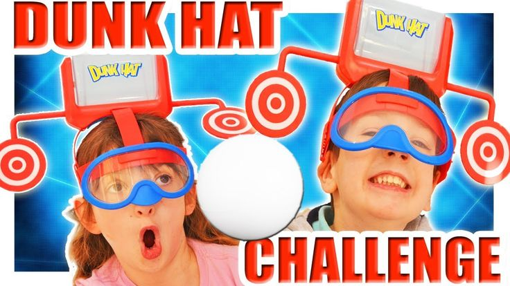 Dunk Hat Challenge Game Toys Family Fun Games Night Toy Unboxing ABC Chi...