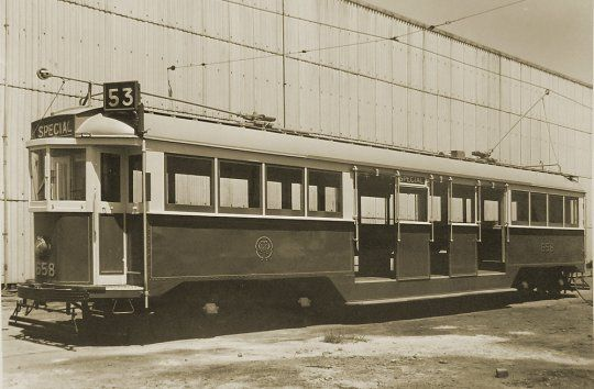 An undated view of W3 class 658 at Preston Workshops. Unpopular with both passengers and drivers, sixteen W3 class trams were built between 1930 and 1934. M&MTB official photograph.