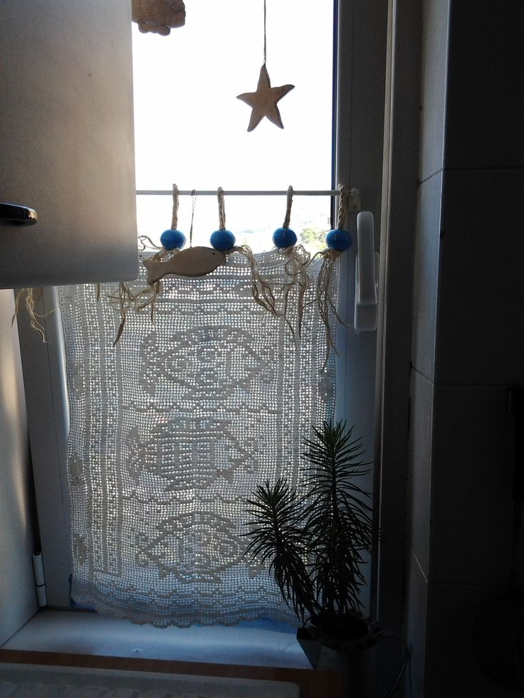 my kitchen curtains with fishes
