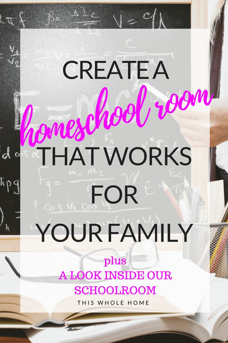 How To Create A Homeschool Room in the Space You Have