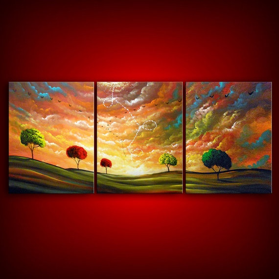 LOVE THIS: Artists Matthew, Beautiful Landscape, Concept Art, Birds Paintings, Landscape Paintings, Large Paintings, Trees Paintings, Bold Colors, Matthew Hamblen