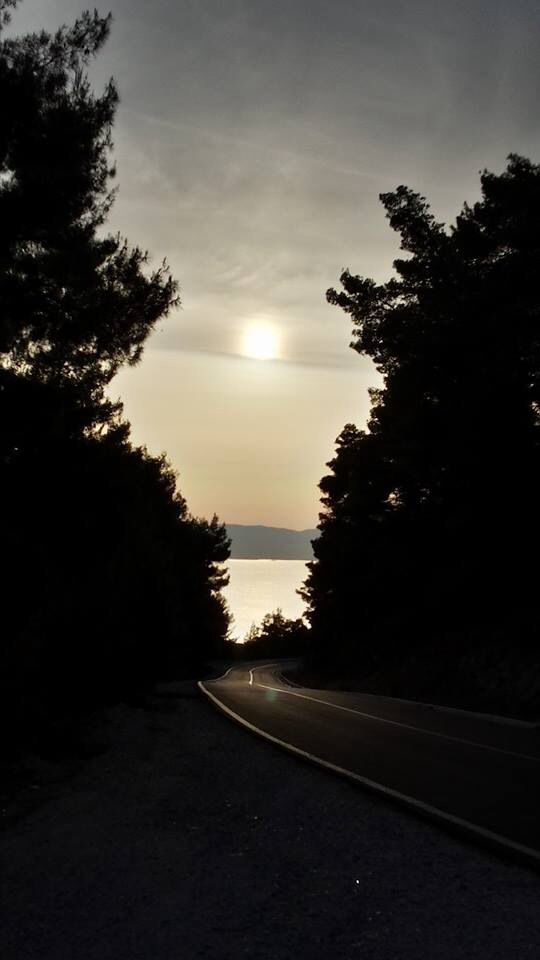 Driving back to Skopelos Country Villas on the new road during sunset..magnificent!!