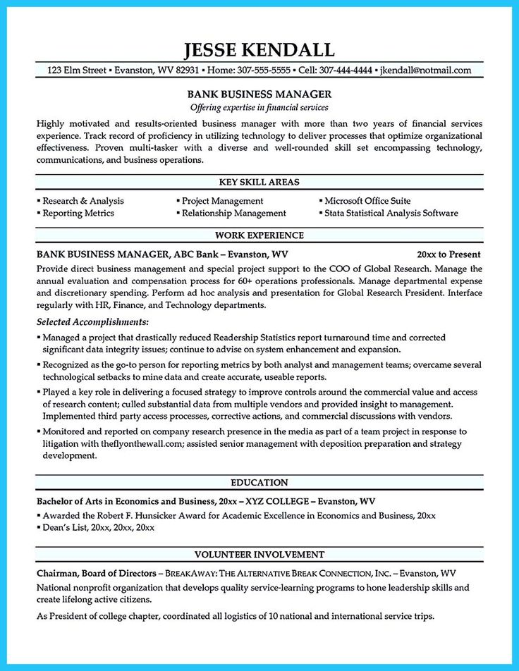 awesome Starting Successful Career from a Great Bank Manager Resume, Check more at http://snefci.org/starting-successful-career-from-a-great-bank-manager-resume
