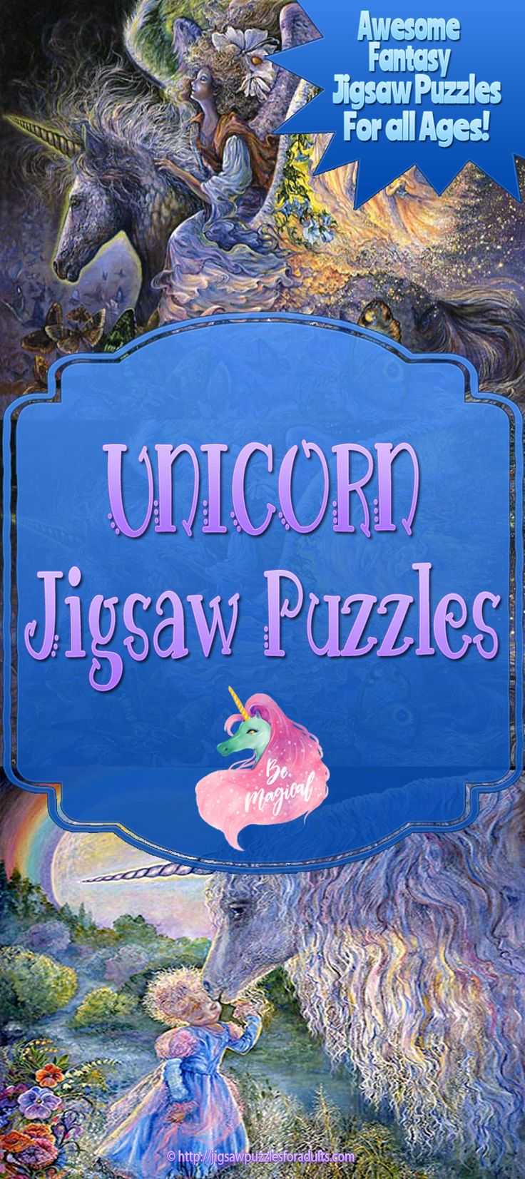 Love these Unicorn Jigsaw Puzzles! You'll find plenty of Beautiful jigsaw Puzzles of Unicorns. These Unicorn Jigsaw Puzzles would make magical gifts for adults that have a passion for fantasy artwork and puzzles!