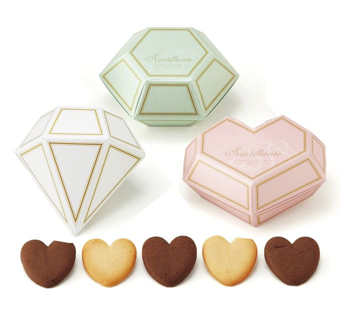 faceted diamonds & crystals (Not a tutorial, a commercial product for packeting tiny cookies as wedding favors)Cookies Packaging, Faceted Diamonds, Japan Packaging, Japan Cookies, Diamonds Crystals, Packaging Design, Japan Design, Design Packaging, Cookies Boxes