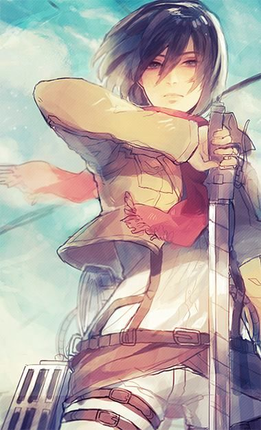 Why is it that I find probably the most awesome Mikasa fanart on Pinterest along with Tumblr? But this is just awesome. Mikasa is actually one of my favorite characters from SnK.