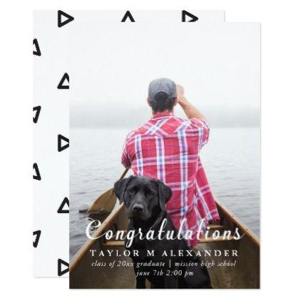Congratulations Graduate Graduation Announcement - black and white gifts unique special b&w style