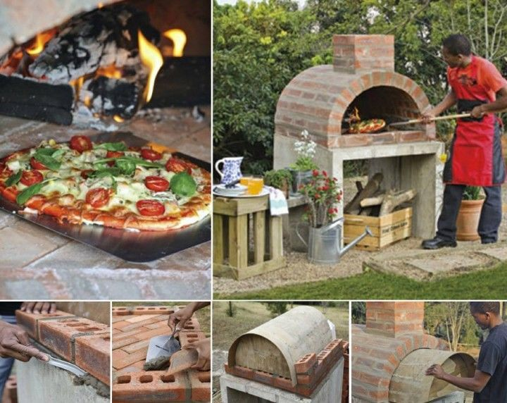 DIY Pizza Oven Tutorial outdoors backyard diy craft crafts ...
