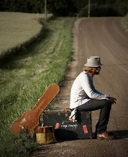 He gave everything up to focus on music and he's out traveling by himself to do it traveling musicians