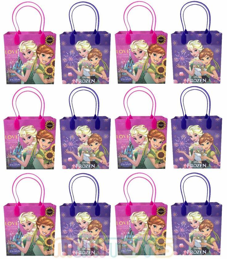 12Pc Disney Frozen Fever Anna & Elsa Birthday Party Favors