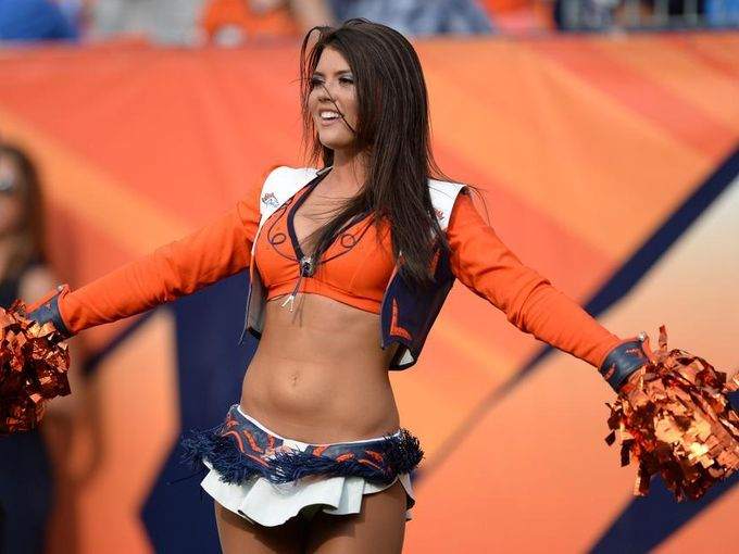 Sep 13, 2015; Denver, CO, USA; A Denver Broncos cheerleader