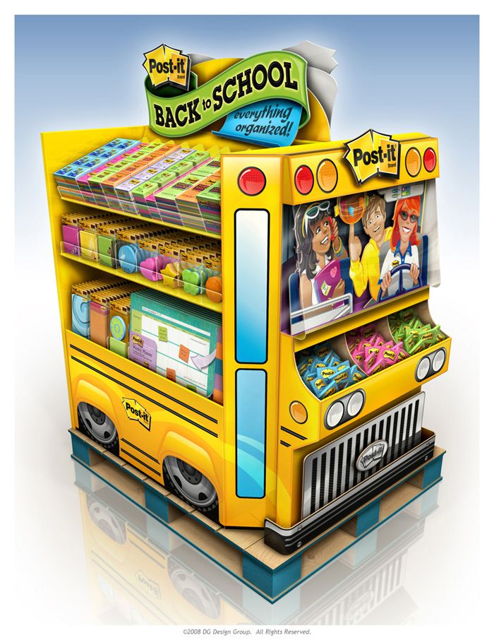 Cute #PointofPurchase for back to school #POS