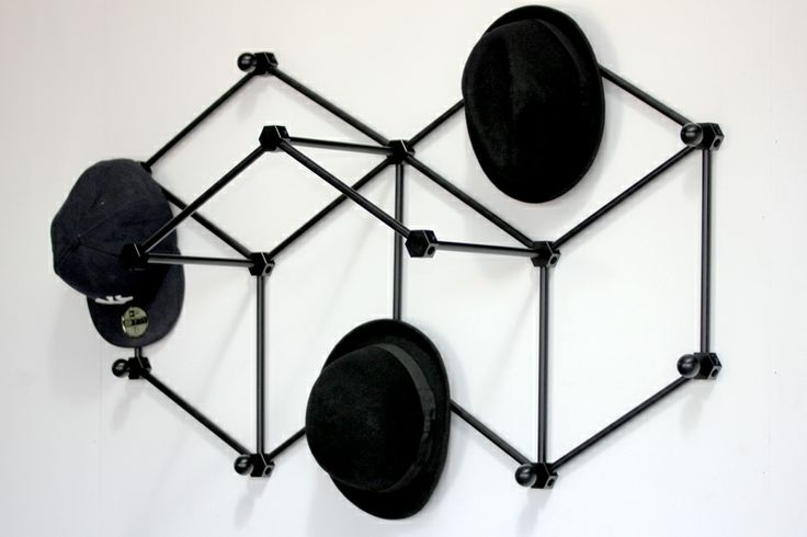 3D Hat Rack. Wall Mounted. Modular. 100% Recyclable Ali. Exhibited at 'Now in 3D' Graduate Exhibit for Central Institute of Technology