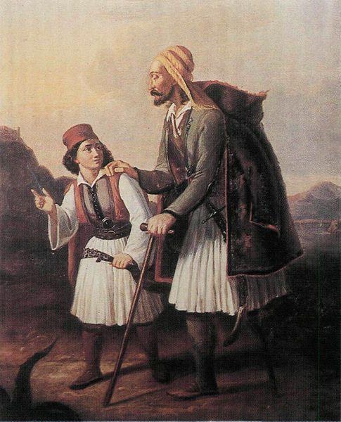 Ιnjured Macedonian fighter oφ the Greek revolution of 1821, by Theodoros Vryzakis, 1830