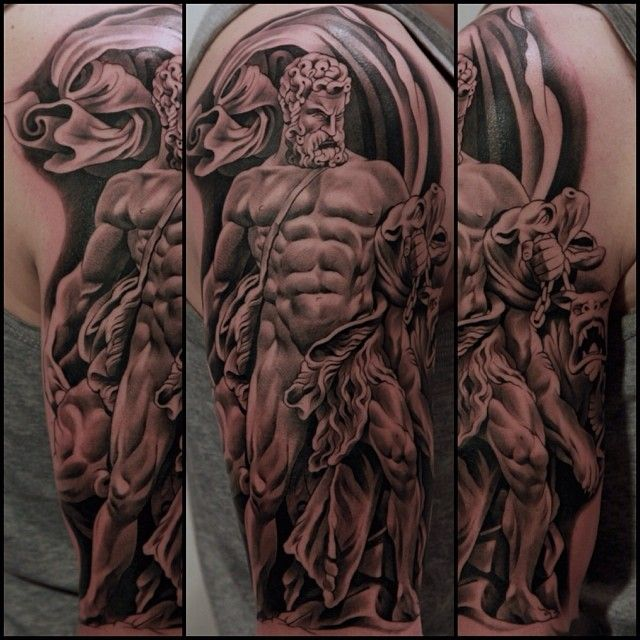 Combination of roman gods to finish the left arm...This is ...