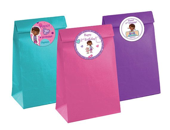 Doc McStuffins round stickers cupcake toppers by PartylandShop, $6.00