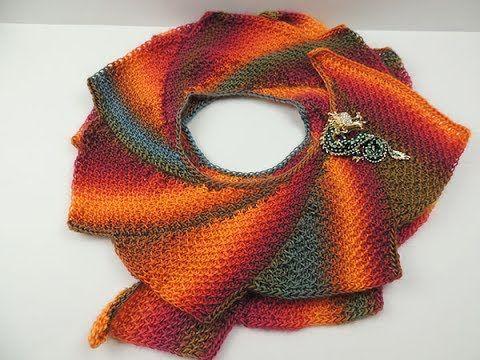 Crochet Tunecino: Bufanda Cola de Dragon - YouTube