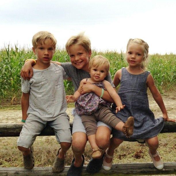 """""""@michaeladamo these four blondies are missing their dada! xo"""""""