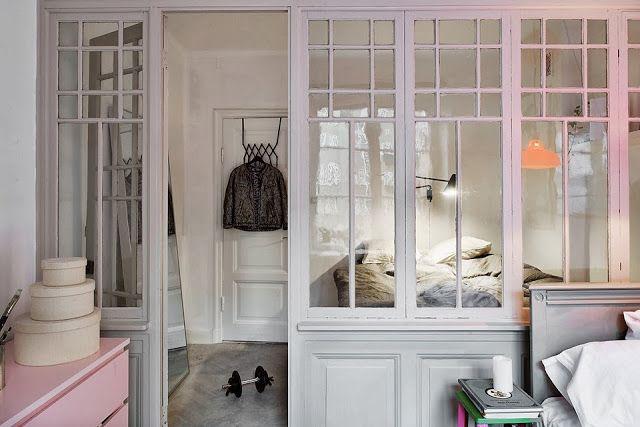 wall w/old glass doors & windows