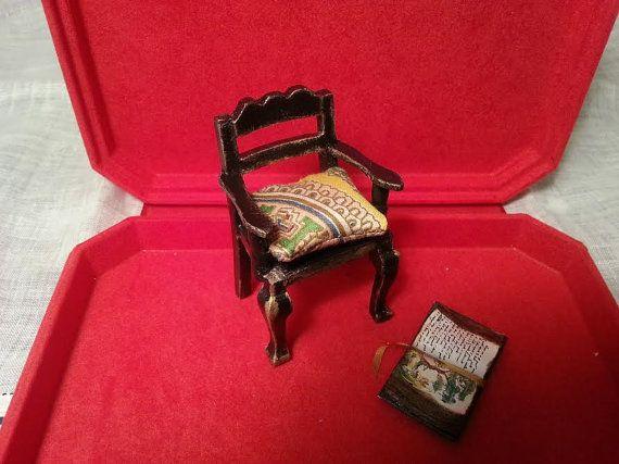chair  Louis XIV dollhouse  scale 1:12 by LaboratoriodiManu