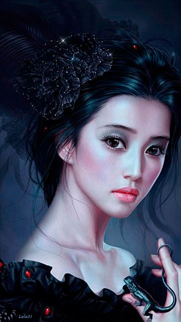 Beautiful, Fantasy girl and Black on Pinterest