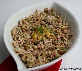 gülay mutfakta: Zeytinli Tavuk Salatası