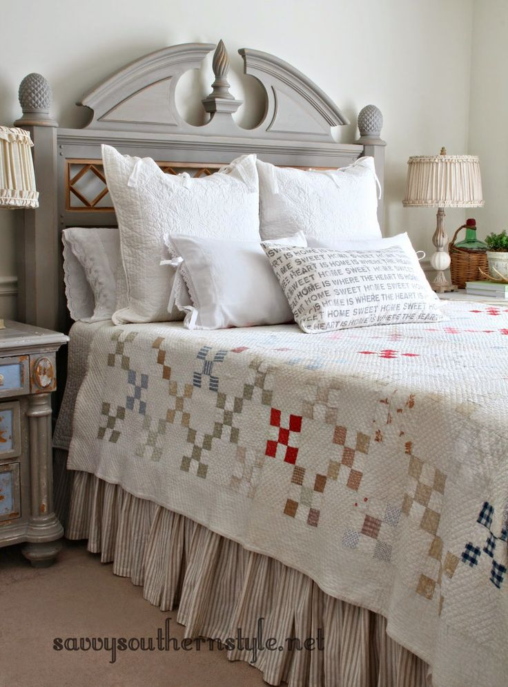 Savvy southern style old bed new look with ascp french for French farmhouse bed