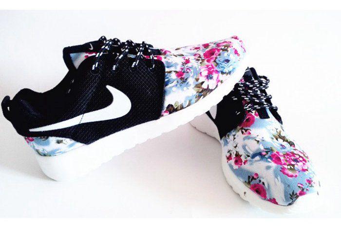 Nike Roshe Run London Olympics Trainers Floral Black Mens Womens