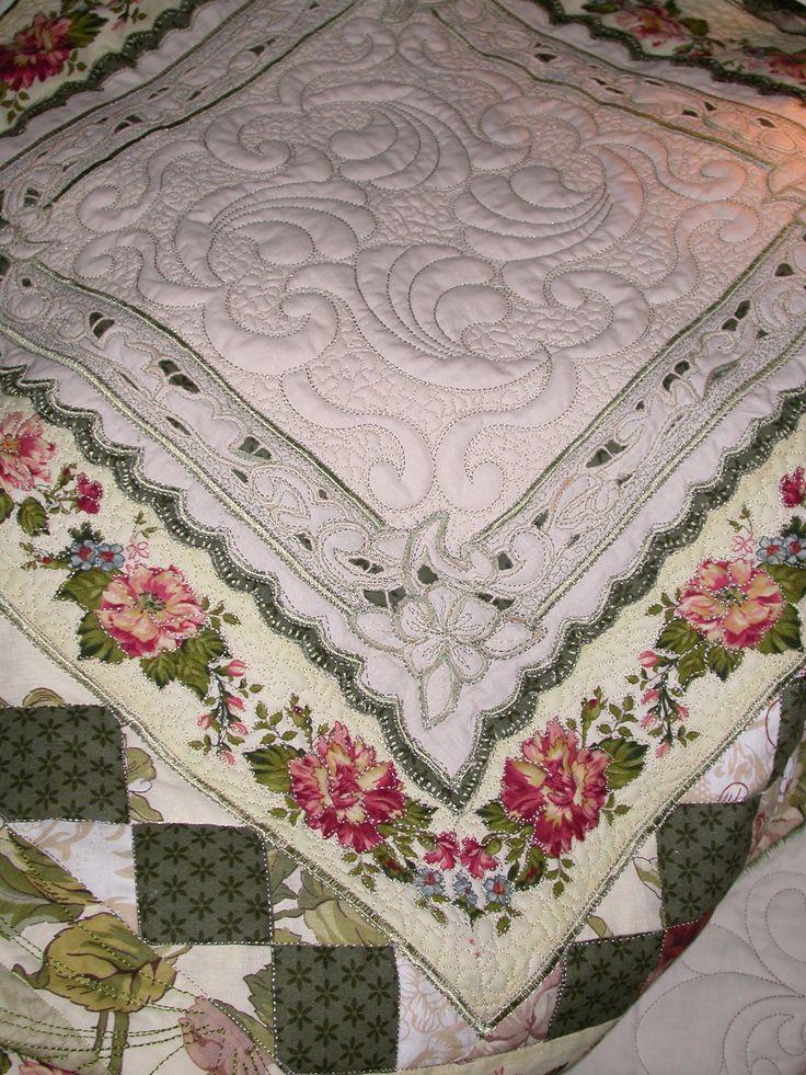 Vintage Lace Patchwork,my quilt