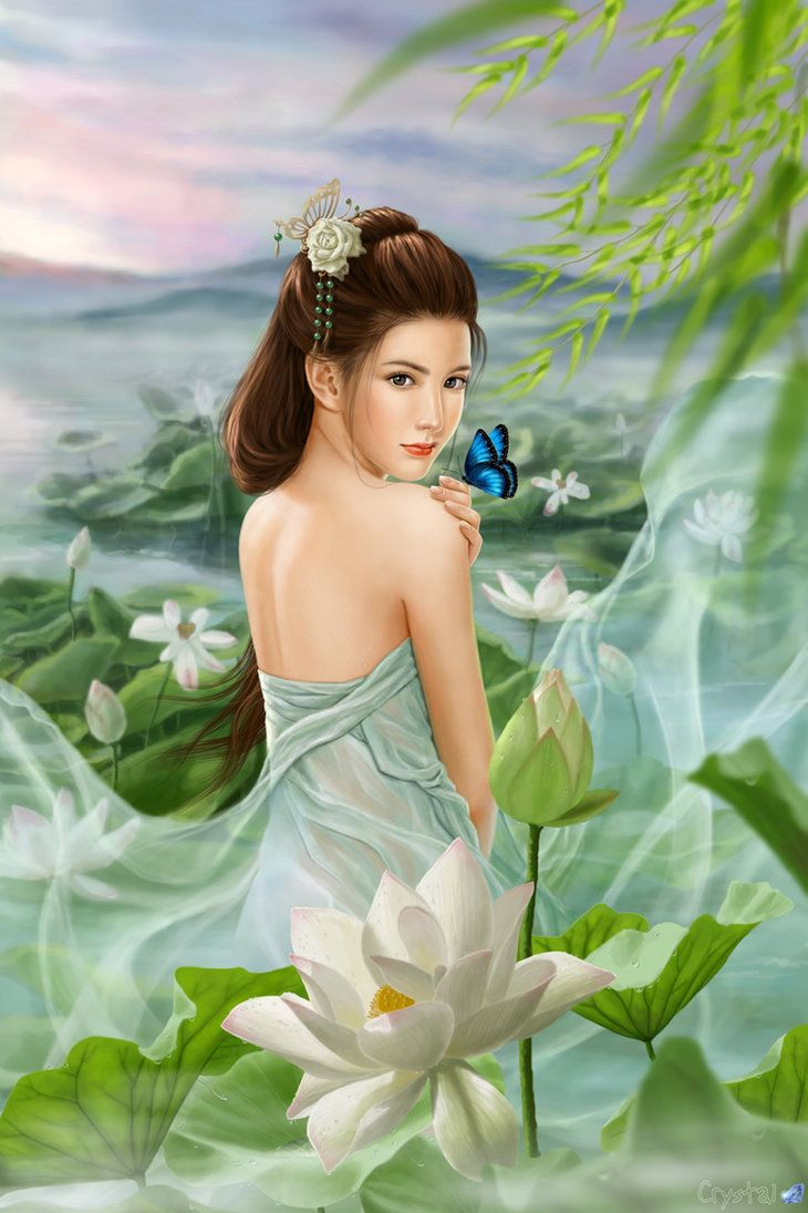 Lotus Goddess   Fantasy Realm   Pinterest   Lotus and Goddesses