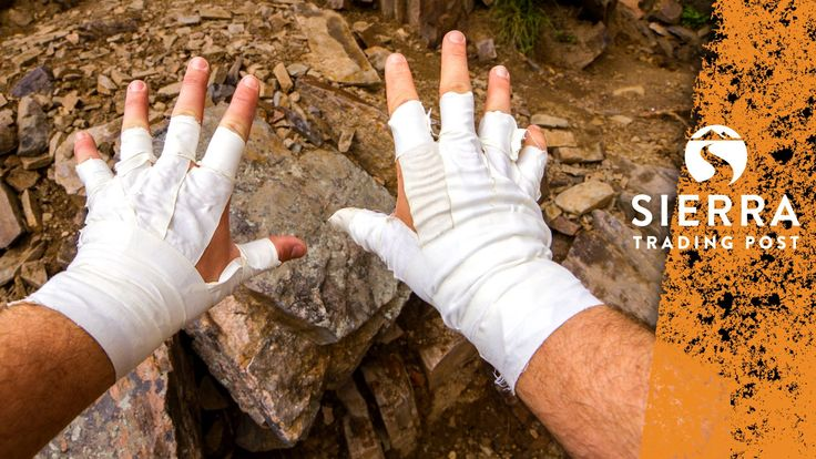 Rock Climbing:  How To Make Tape Gloves