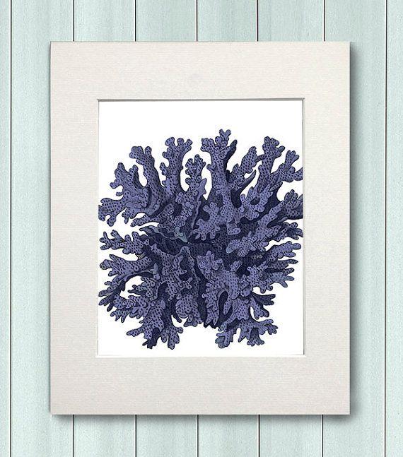 Corallo arte Blue Coral 10 arredamento casa di NauticalNell