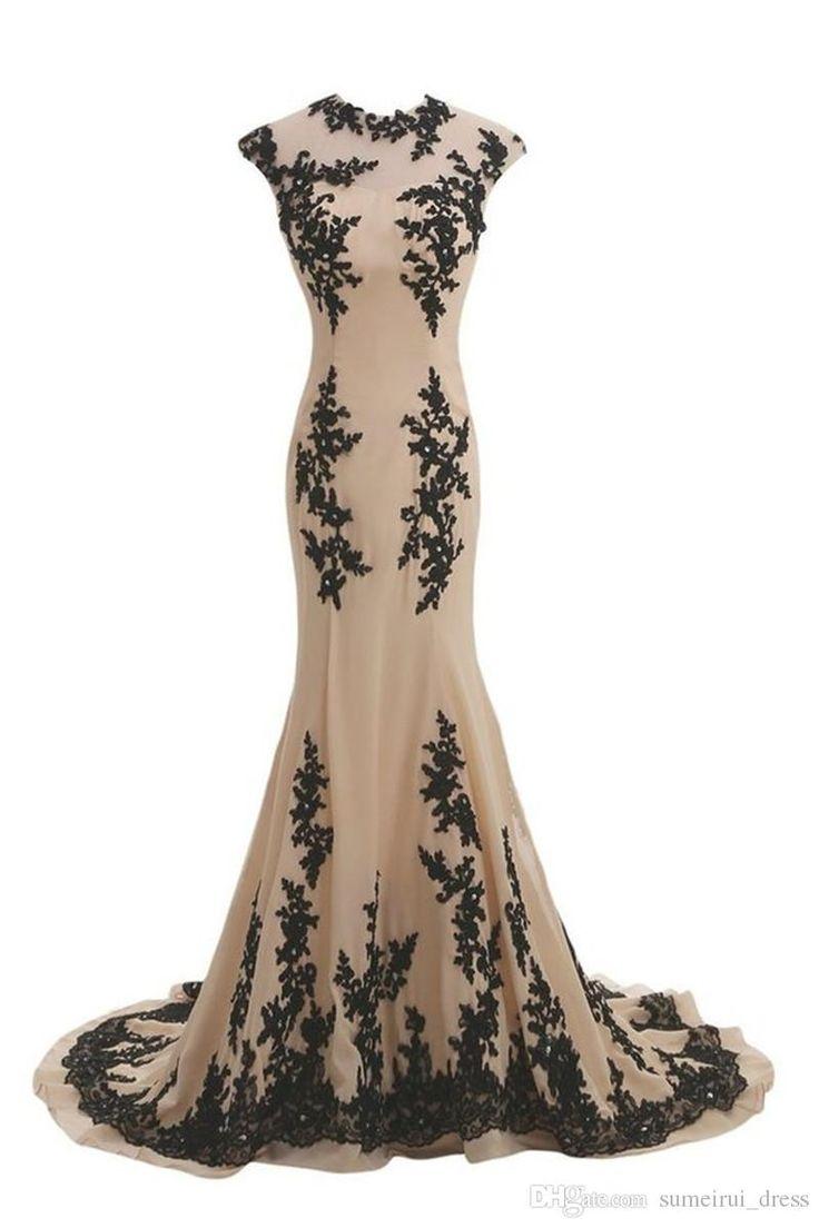 Abiti Da Cerimonia Da Sera 2016 Elegant Appliques Long Mermaid Evening Dress Jewel Chiffon Vestido De Festa Dresses Long Evening Dresses Perth From Sumeirui_dress, $134.0| Dhgate.Com