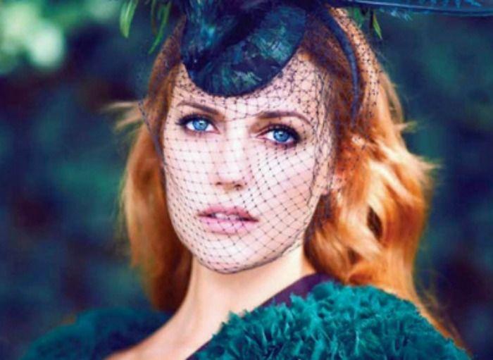 Meryem Uzerli Tüllü Şapka Modeli