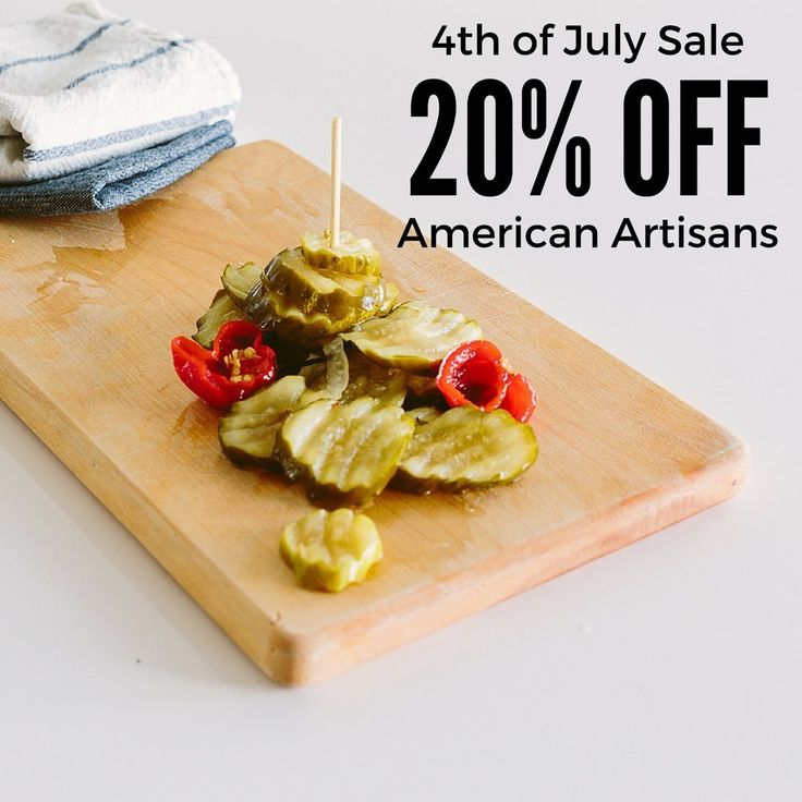 Only 1 day left until our Independence Day 20% Off Sale Finishes - Select from the finest, handcrafted maple syrups, bbq sauces, pickles and more!!