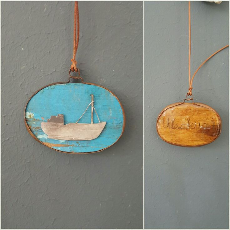 Weskus 1 pendant. Made from beach salvaged wood of the Weskus 1 and silver, made by Met passion design