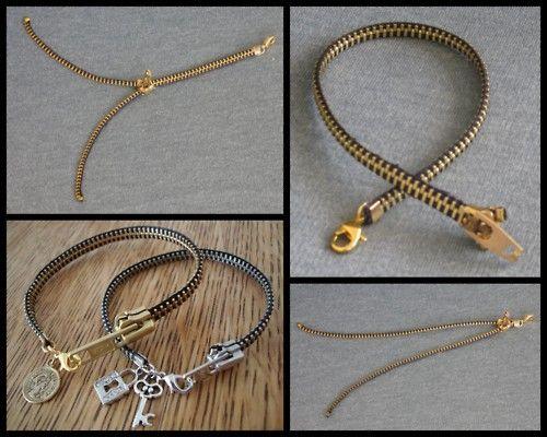 Zipper Bracelet. Finally a zipper bracelet I would wear that is simple and cute.
