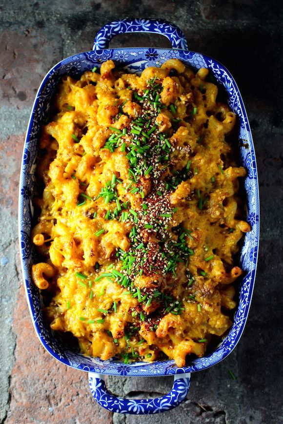 Korean Macaroni and Cheese with Beef, Kimchi, Cheddar @FoodBlogs