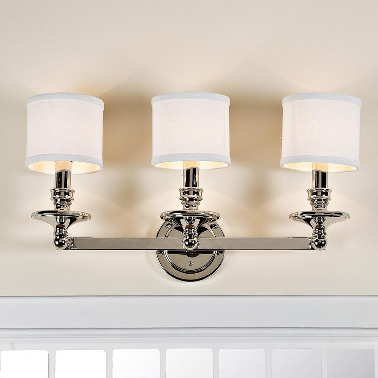 Springfield Linen Shade Bath Light   3 Light