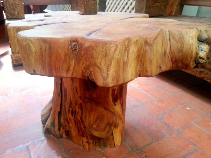 Naturally Unique Cypress Tree Trunk Handmade Coffee Table - Log Rustic Chilean   #Handmade #RusticPrimitive