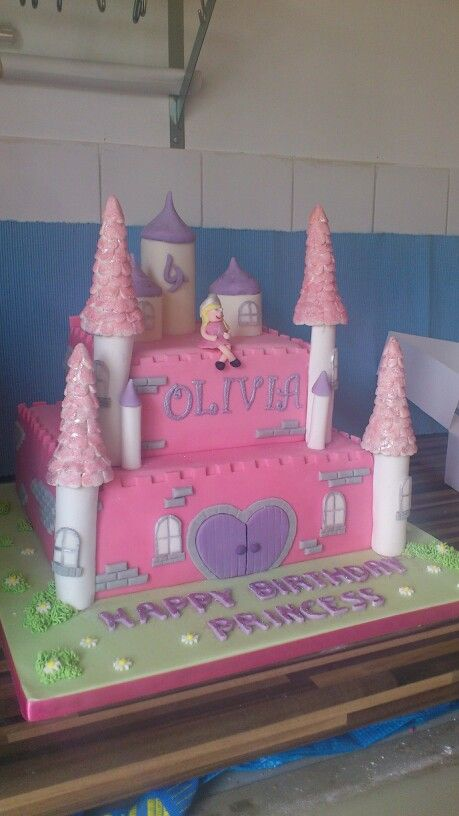 Huge princess fairy castle cake! Loved the reaction from the birthday girl xxx